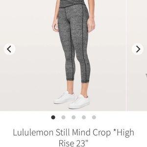 """Lululemon Still Mind Crop HR 23"""" sz 4"""